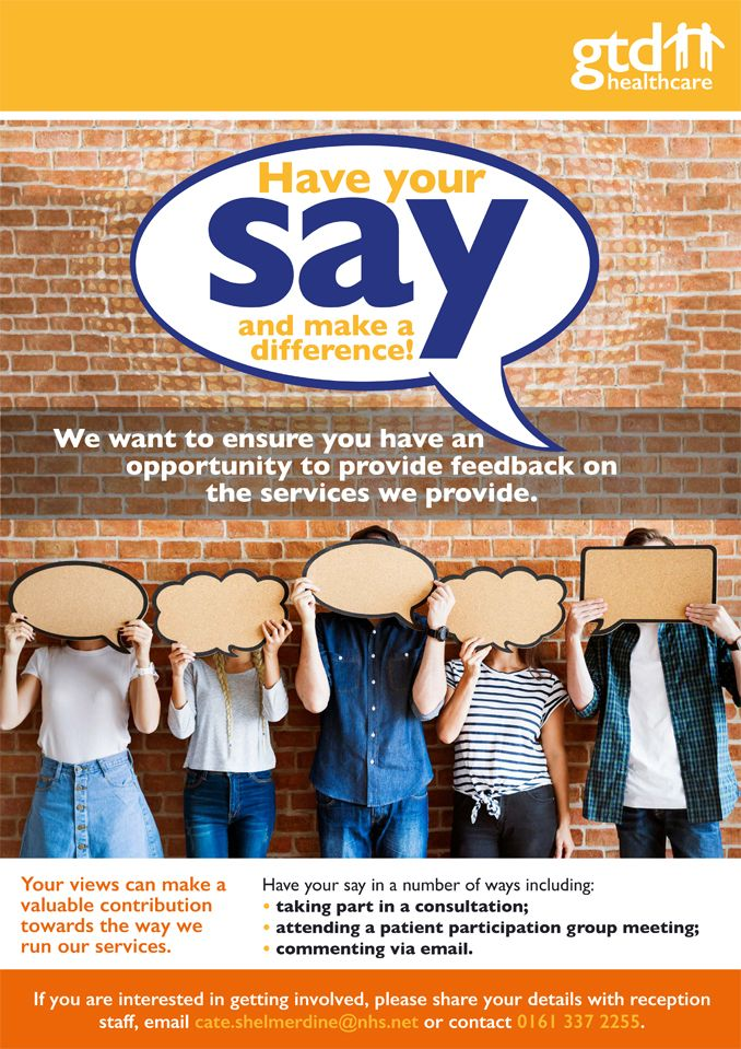'Have your say' poster