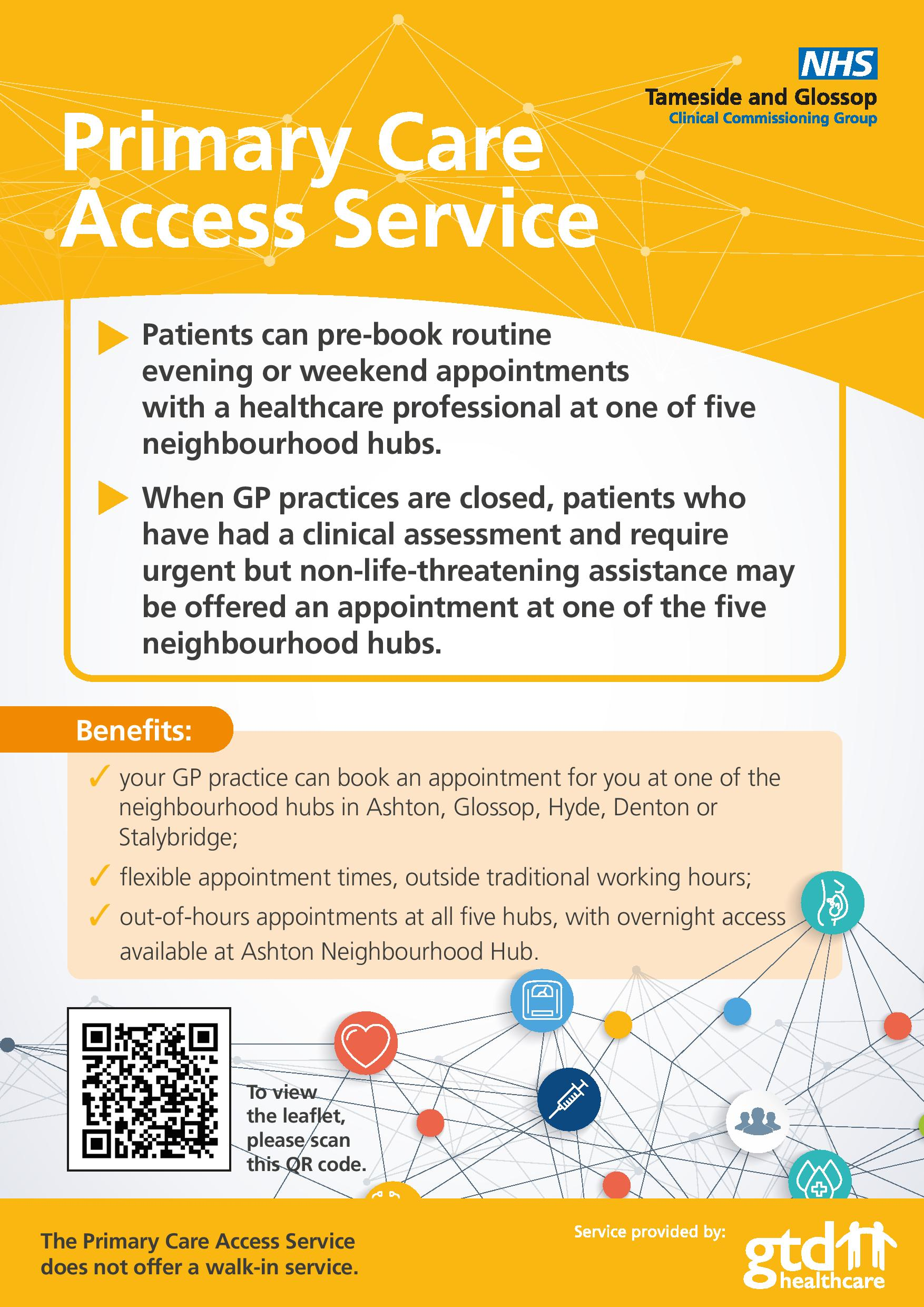 Primary Care Access Service leaflet